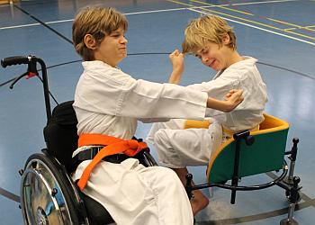 Lukas beim Karate